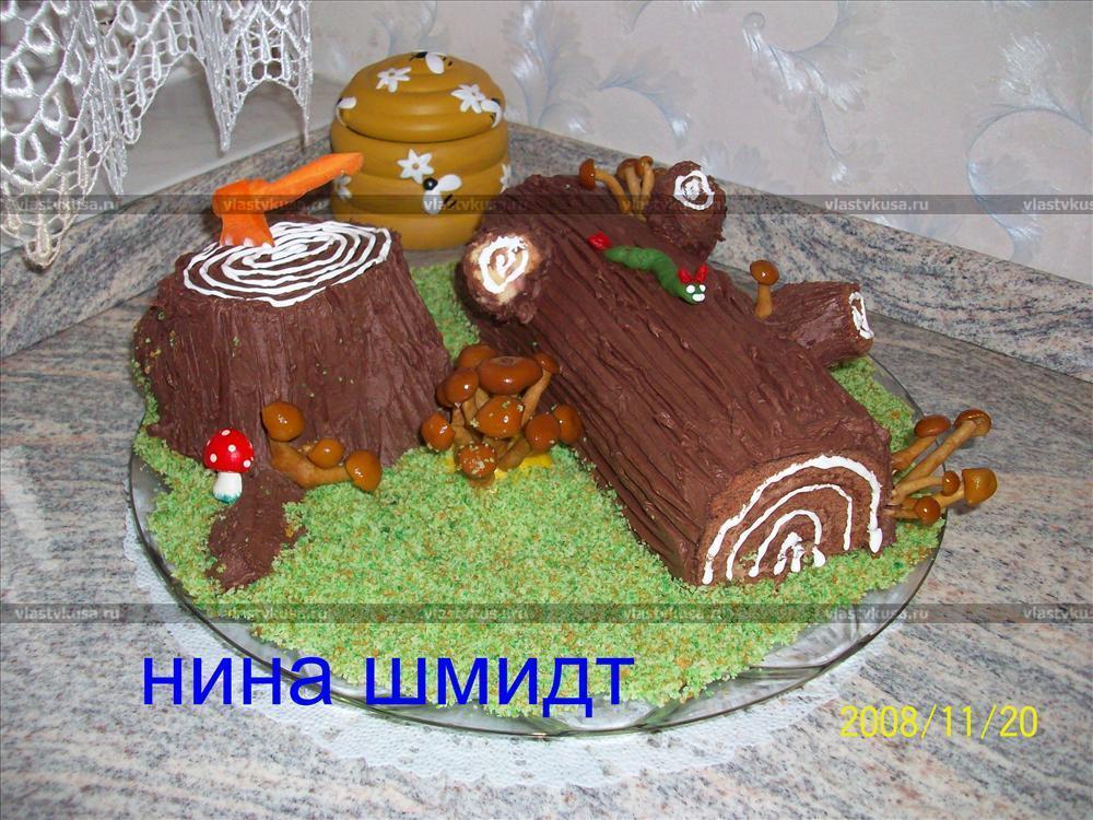 торт пенек фото рецепт