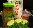 Пошаговое фото рецепта «Соус со свежим огурцом и горчицей»