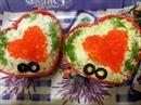 Пошаговое фото рецепта «Салат с сёмгой Валентинка»