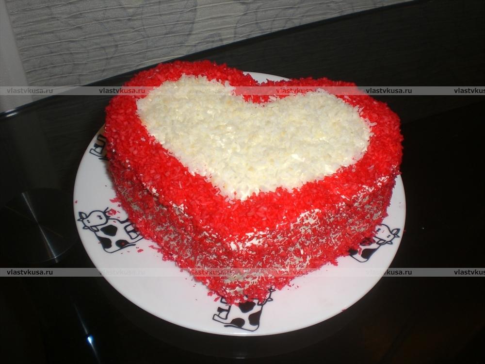 Торт сердечком своими руками