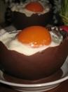 Пошаговое фото рецепта «Десерт Шоколадное яйцо с мороженым»