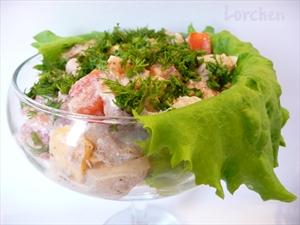 Фото рецепта «Салат из тушёнки»