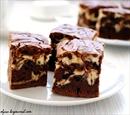 """Пошаговое фото рецепта  """"Шоколадно-творожный мраморный пирог."""