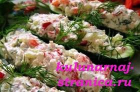 рецепт закусок из огурцов #8